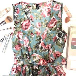 Windsor Blue Floral Maxi Summer Dress